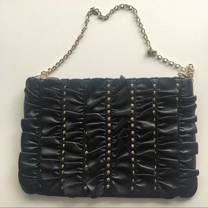 💎30% OFF💎 Mango MNG Leather Ruffle Bag